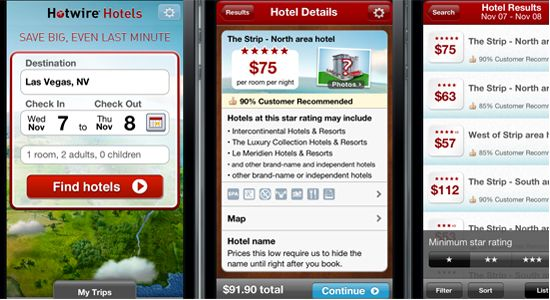 Hotwire finally releases its first iPhone app, wooing last