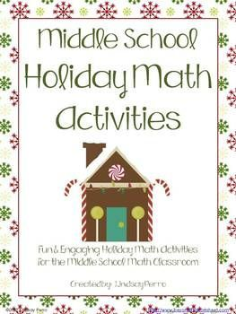 Christmas Math Activities for Middle School | To be, Activities ...