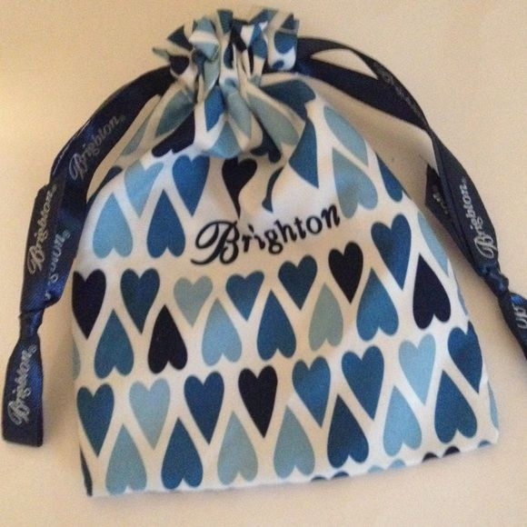 Brighton Jewelry Bag Holder Blue With Signature Bags Satchels