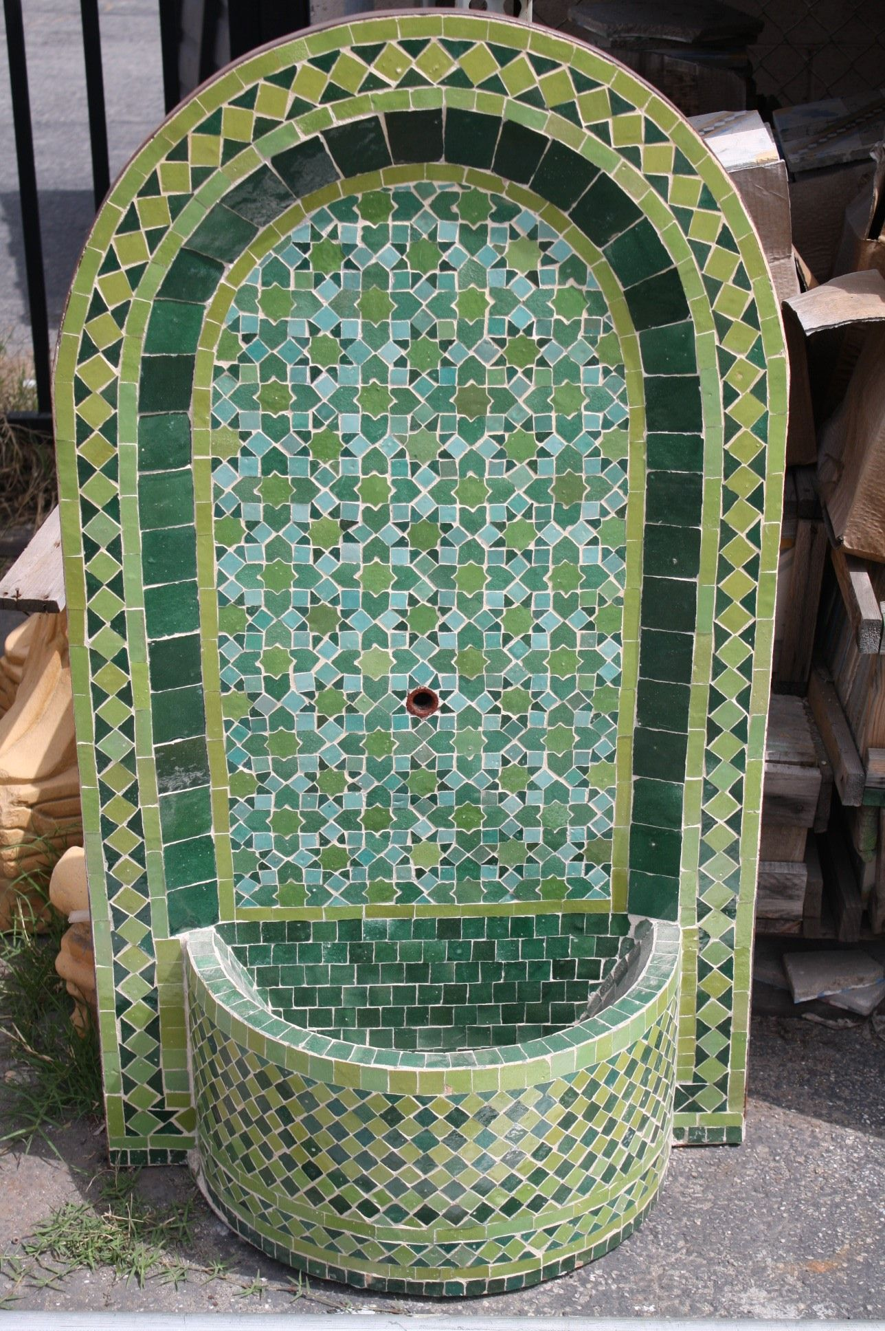 wall fountain using mexican tile designkristiblackdesigns