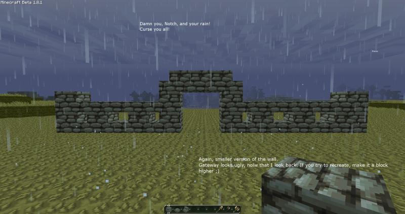 minecraft small wall designs Google Search Minecraft Inspiration