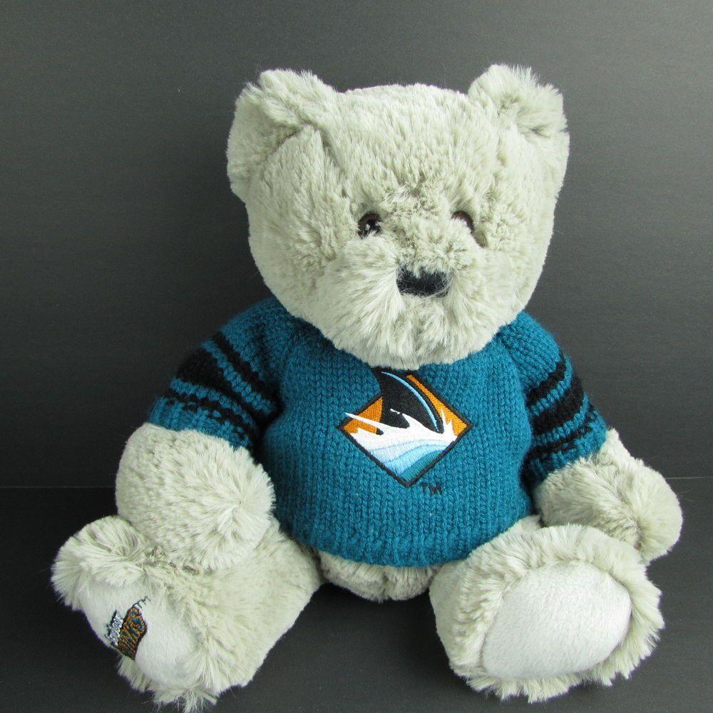 Details About San Jose Sharks Teddy Bear 10 Bean Bag Plush