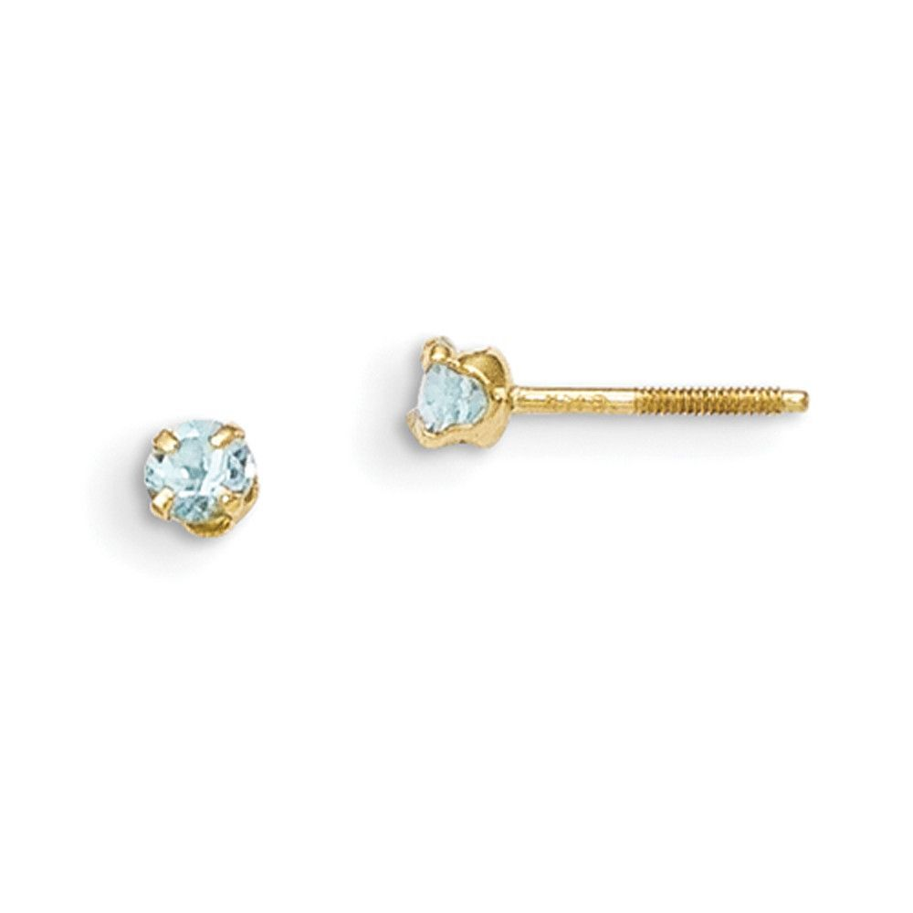 products aquamarine round earrings gold tgw white stud genuine