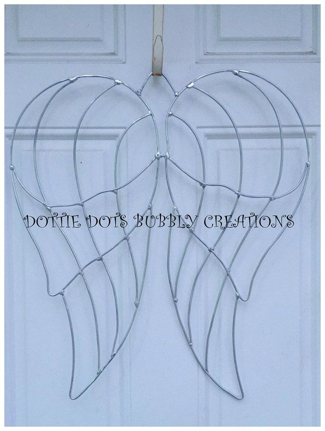 Angel Wings Wire Wreath Form | Wire Templates Forms | Pinterest ...