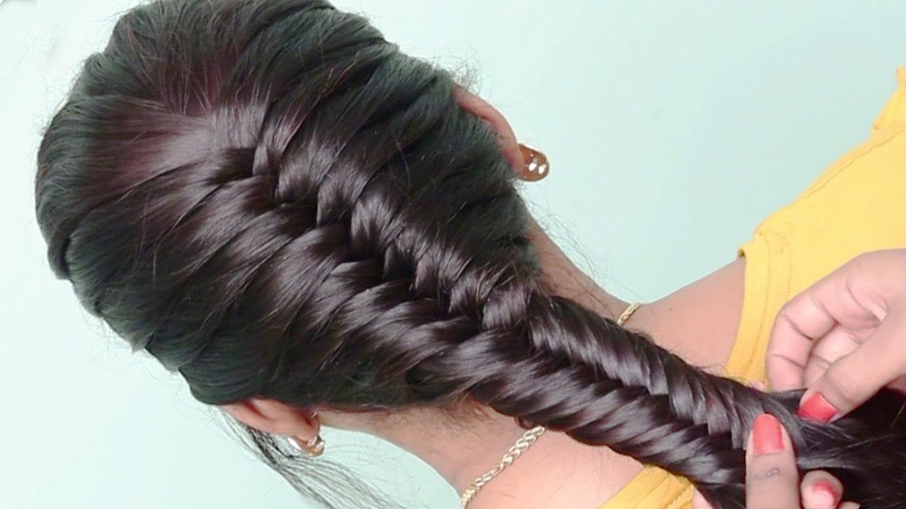 5 Best Hairstyles For Party College Work Hair Style Girl Easy Hairstyles For Long Hair Video Coll In 2020 Dutch Braid Hairstyles Hair Styles Long Hair Video