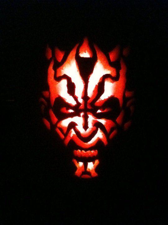 darth maul pumpkin darth maulholidays halloweenwine bottlesstencilpumpkinsstar warsautumn - Star Wars Halloween Pumpkin Carving Patterns