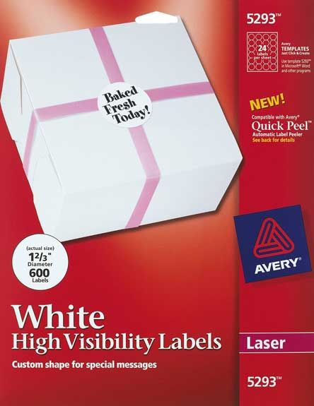 Avery 5293 24 Up Round Labels Pack Of 600 Business Stuff