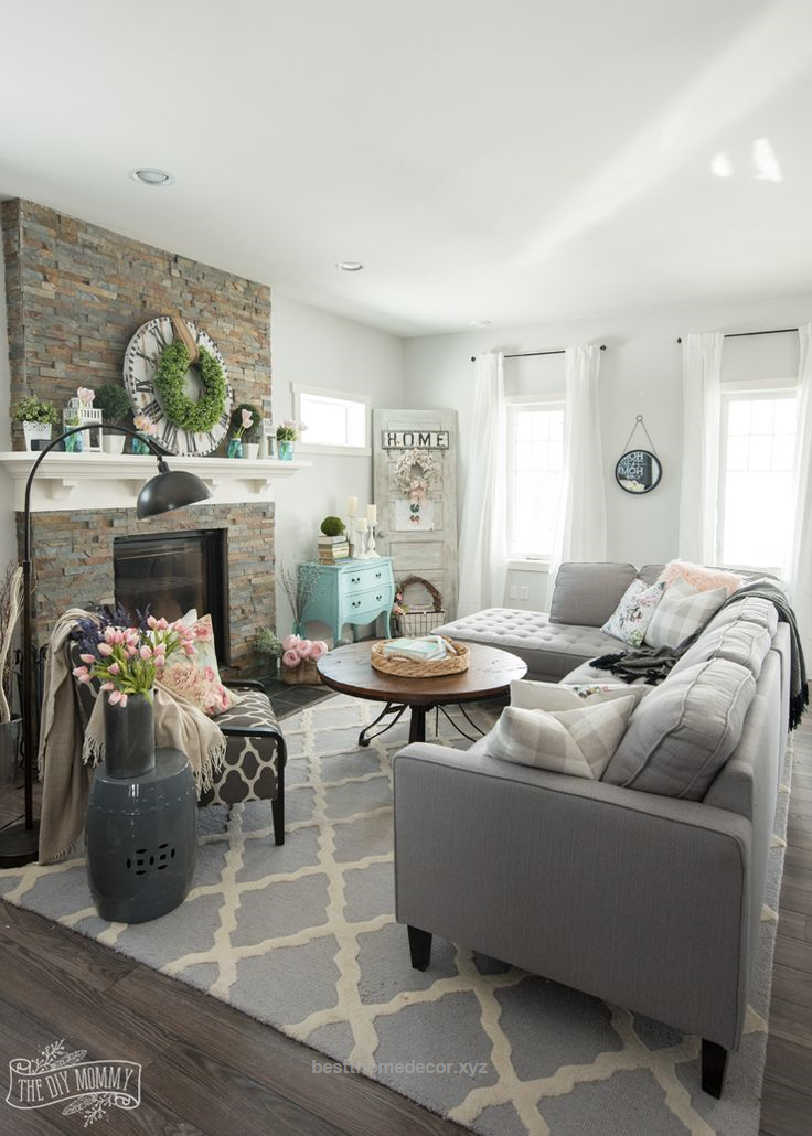 Excellent Spring Home Decor Ideas  The Diy Mommy The Post Spring Stunning Living Room Sectional Design Ideas Design Inspiration