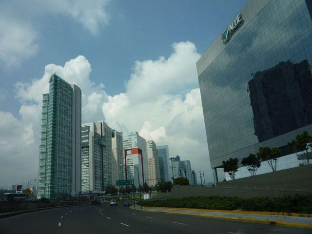 Skyline Of Mexico City S Upscale Santa Fe Neighborhood Mexico City City Mexico