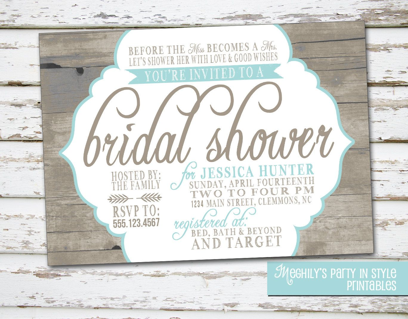 rustic bridal shower invites - Daway.dabrowa.co