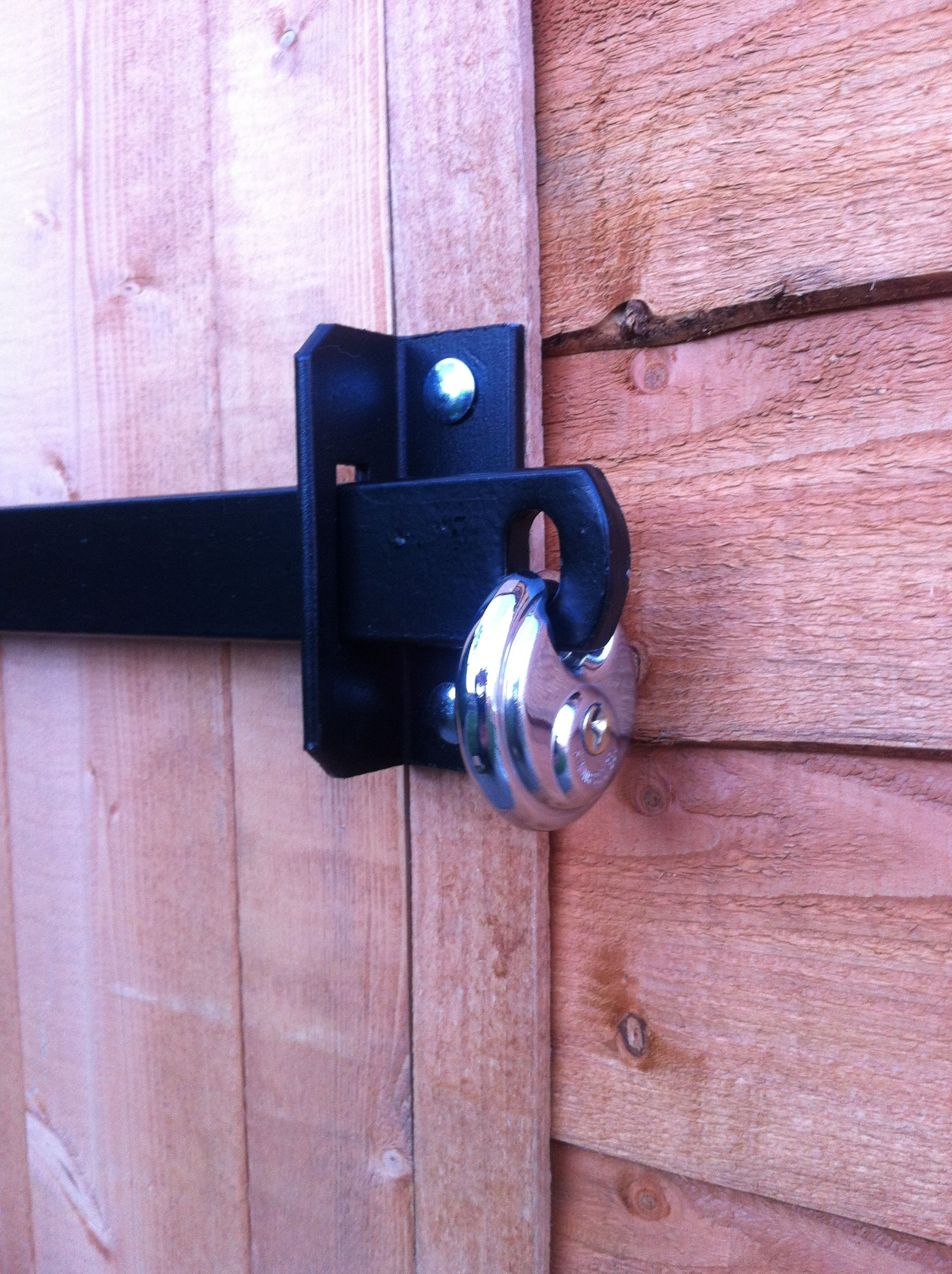 Heavy duty shed security bars. | Shed security, Door lock ...