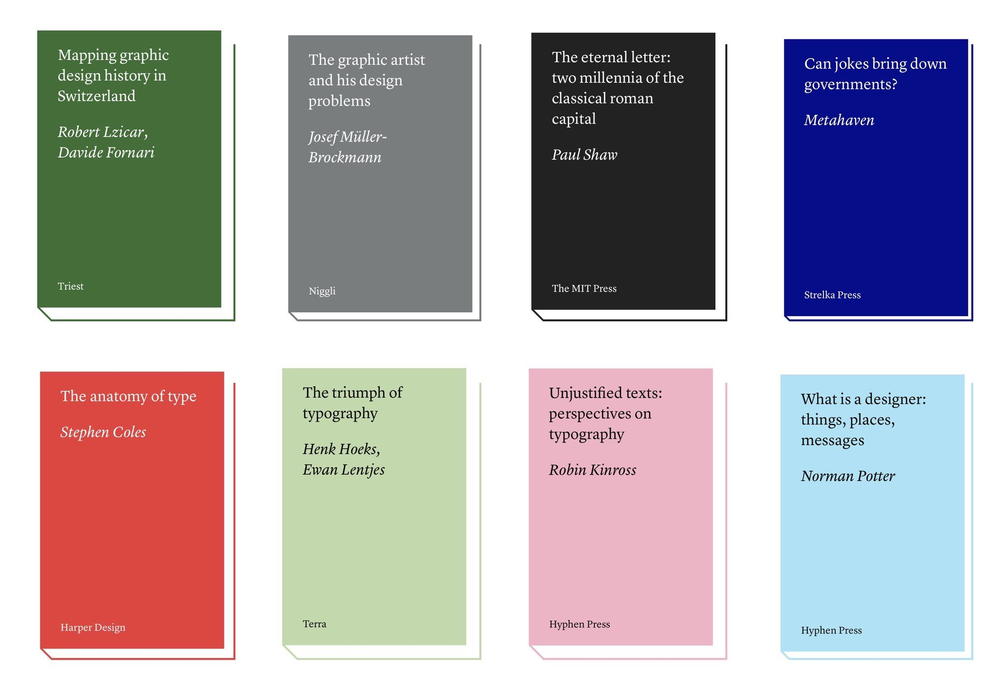 Books on graphic design - a useful site.