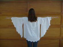 Elizabeth Abernathy: Refashion Tutorial: Make a Tunic Blouse From a Small Round Table Cloth