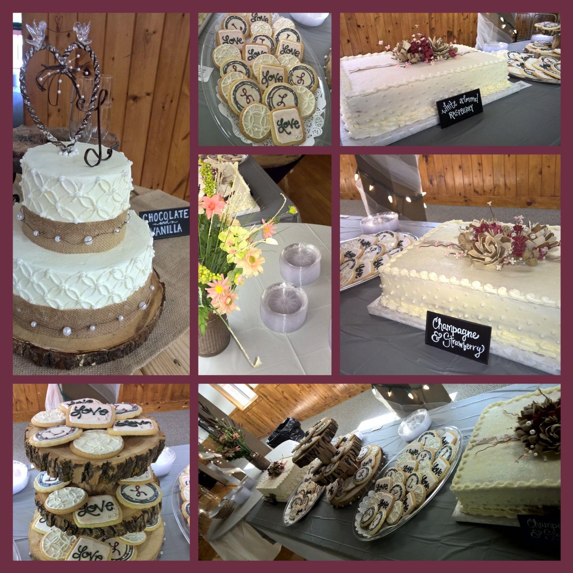 Rustic Wedding Sheet Cakes Cookied
