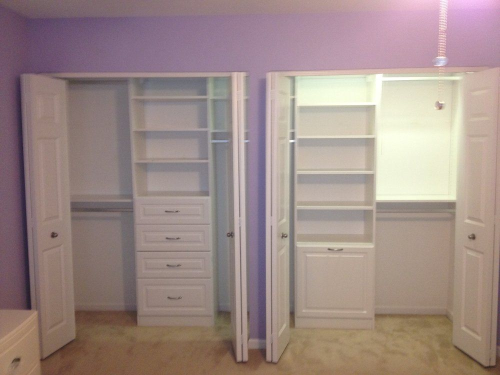 Photos Of Chicagoland Custom Closets   Chicago, IL. White Reach In Closet  With Raised Panel Drawers And Hamper