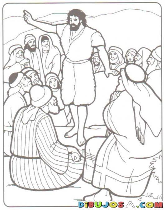 Colorear a Juan el Bautista Predicando | COLOREAR BIBLICOS | Dibujo ...