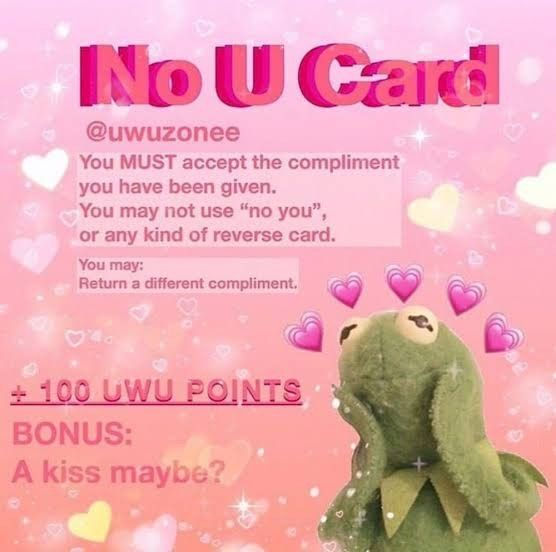 Cute No U Card Love Meme Cute Love Memes Wholesome Memes Flirty Memes