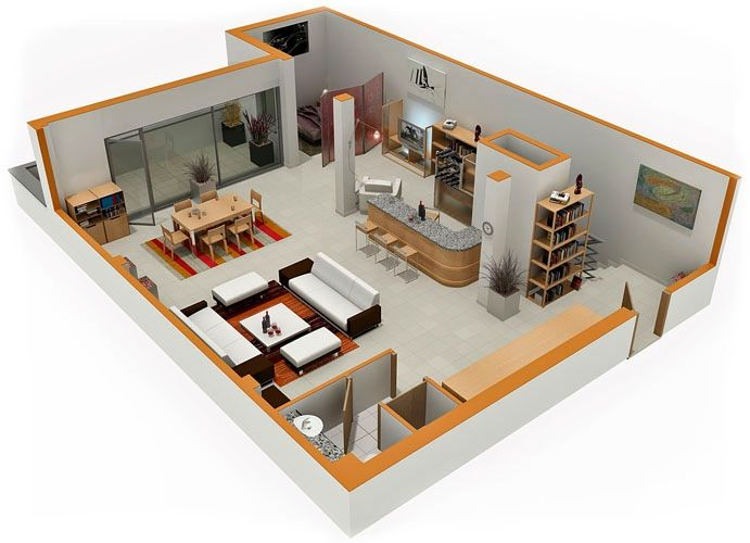Great Design Layouts Studio Apartments. This Reminds Us A Bit Of Modern Meets .