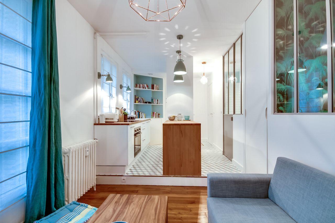 Appartement v batignolles paris - Architecte interieur paris petite surface ...