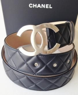 chanel belt. 2015 chanel black quilted lambskin belt and silver cc buckle new