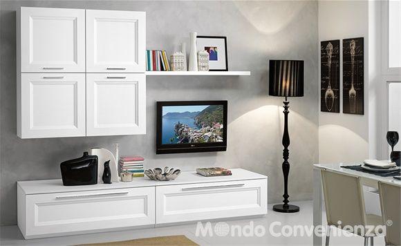 Mobile soggiorno pamela colore bianco larice mondo convenienza ...