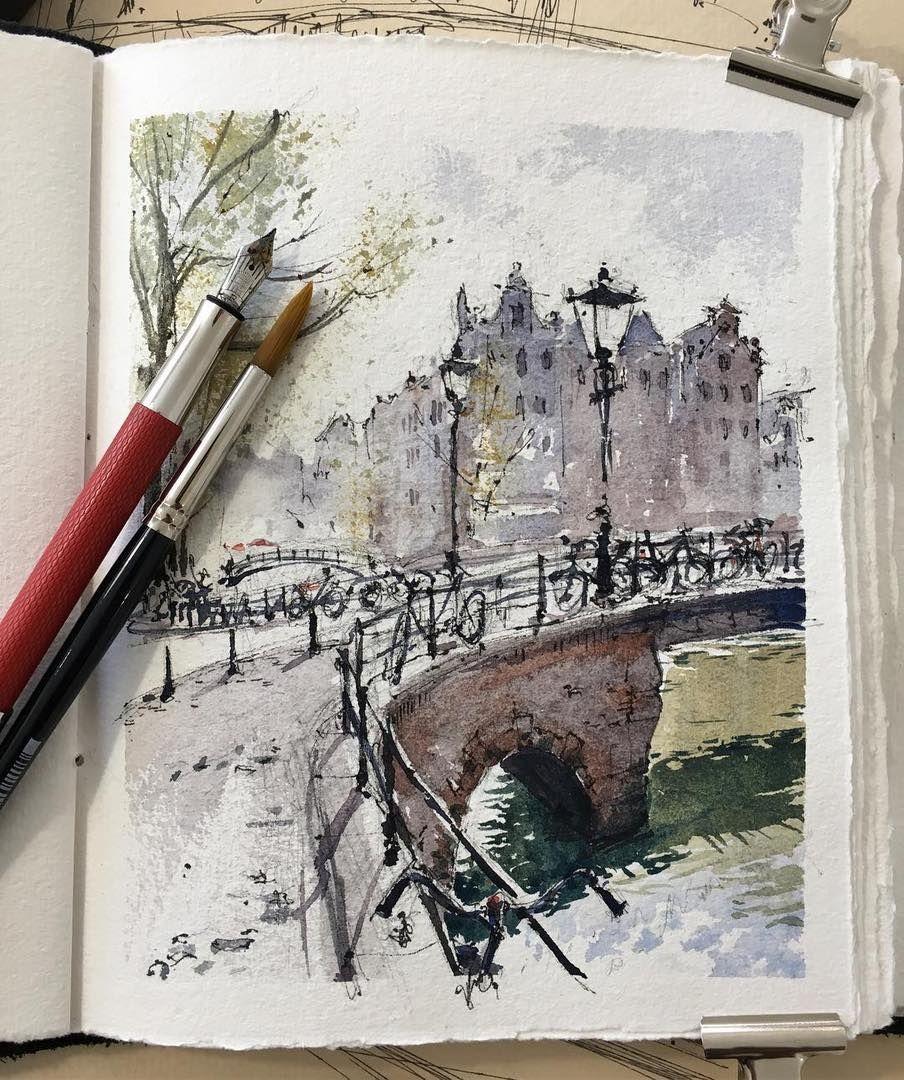 Watercolorist Hillkurtz Waterblog Akvarel Aquarelle