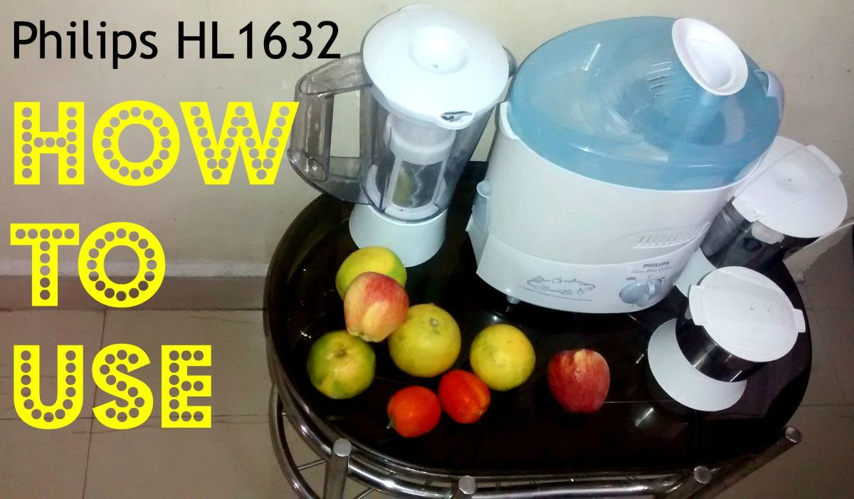 Philips HL1632 500 Juicer Mixer Grinder How to use video / Review ...