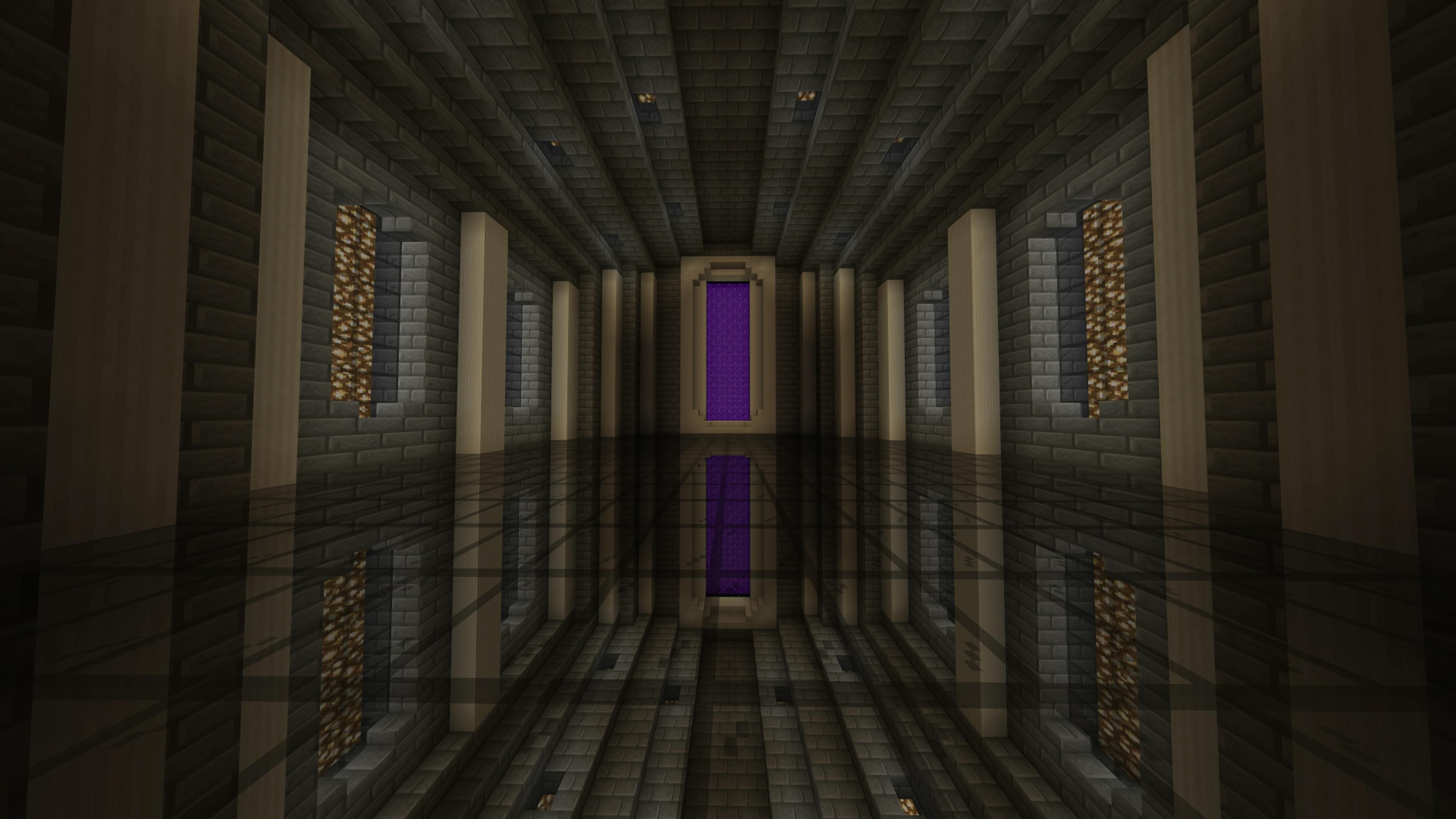 Reflected Nether Portal Room I Made Minecraft Minecraft Portal Minecraft Architecture Minecraft