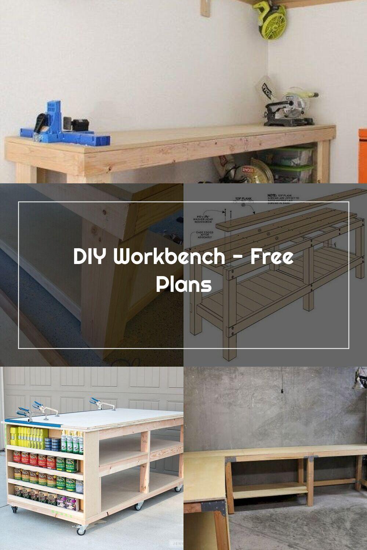 Diy workbench free plans shanty 2 chic in 2020 diy