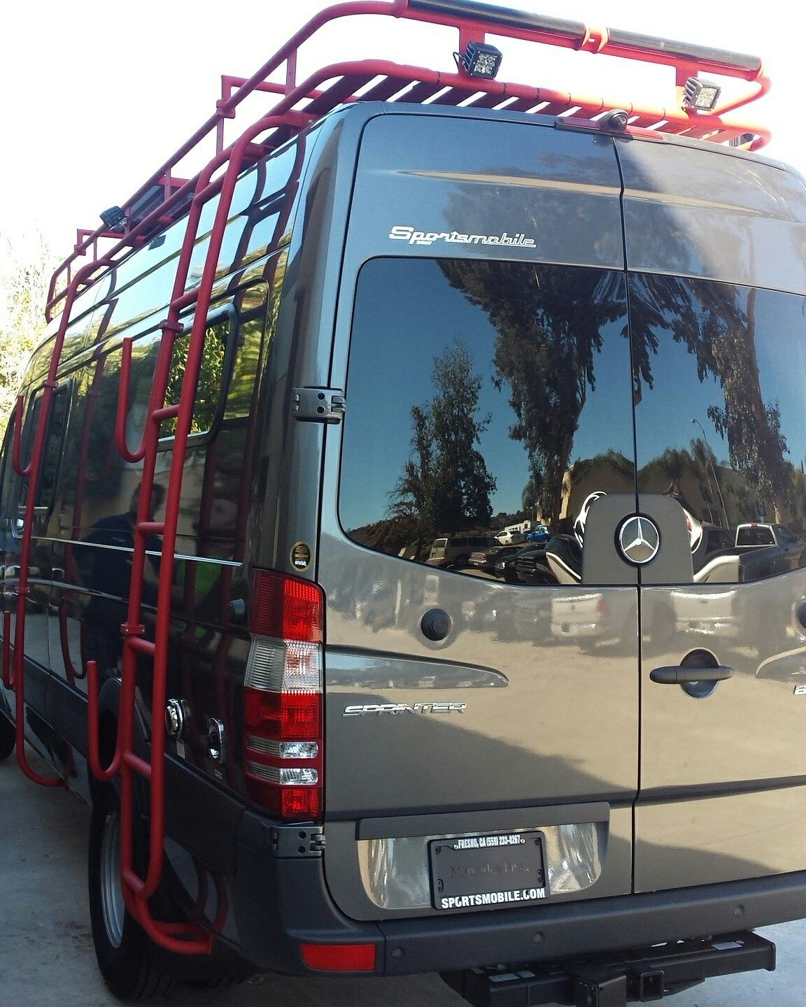 Great Color Combo Aluminess Roof Rack Ladder And Surf Hooks On A