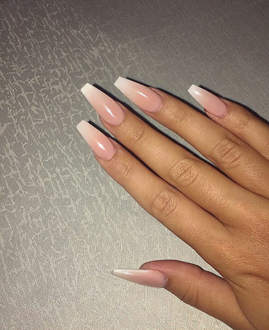 Pink Acrylic Nails Shiny Nails Designs Gorgeous Nails Ombre Nails
