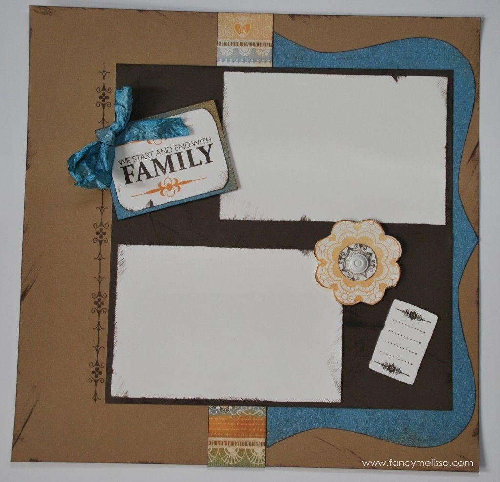 Family scrapbook ideas on pinterest - Florentine Family Scrapbook Layout Www Fancymelissa Com Ctmh