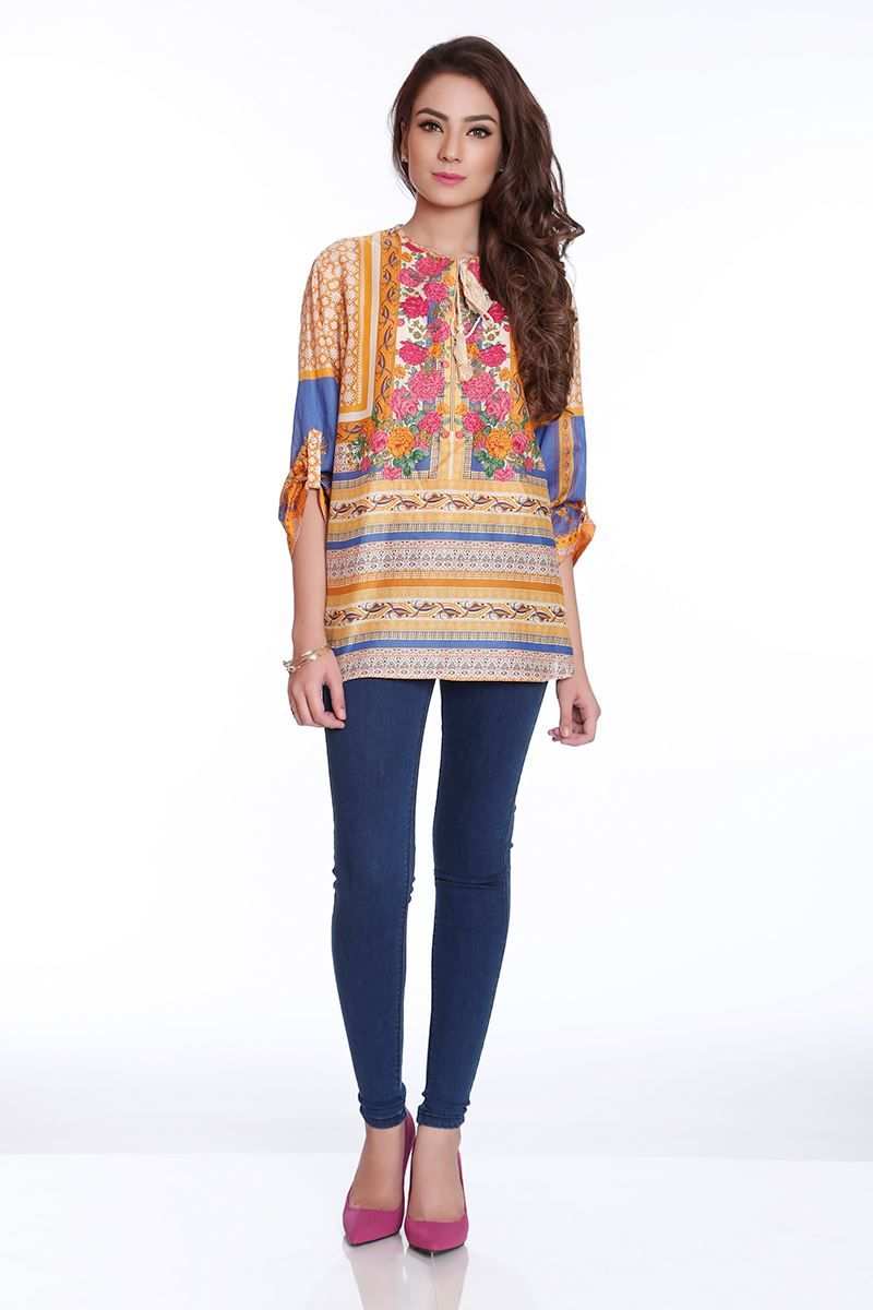 1053785f1d2a9 Ethnic by Outfitters Pret Collection 2016 FUSION TOP SKU  EWPFF16206 ...