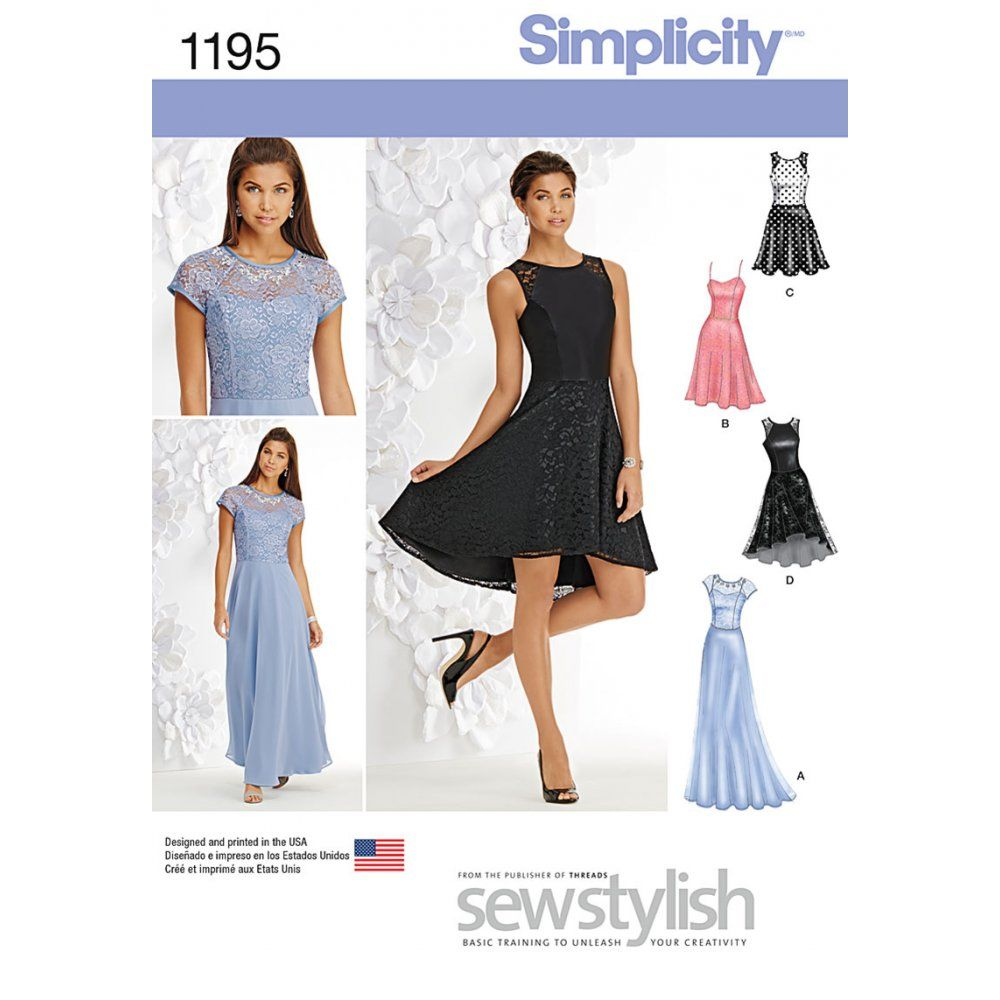 Simplicity sewing pattern 1195 special occasion dress pattern simplicity sewing pattern 1195 special occasion dress ombrellifo Gallery