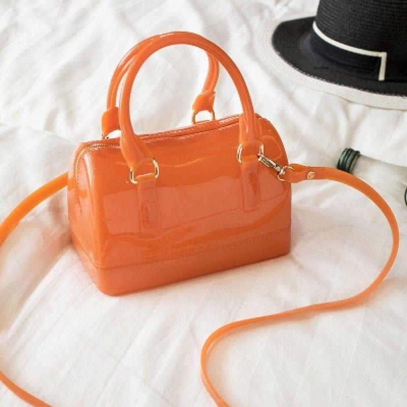 orange jelly purse cute cross body bags jellybag orange summer handbag crossbodybag fashionable crossbody bag jelly purse girls bags orange jelly purse cute cross body bags