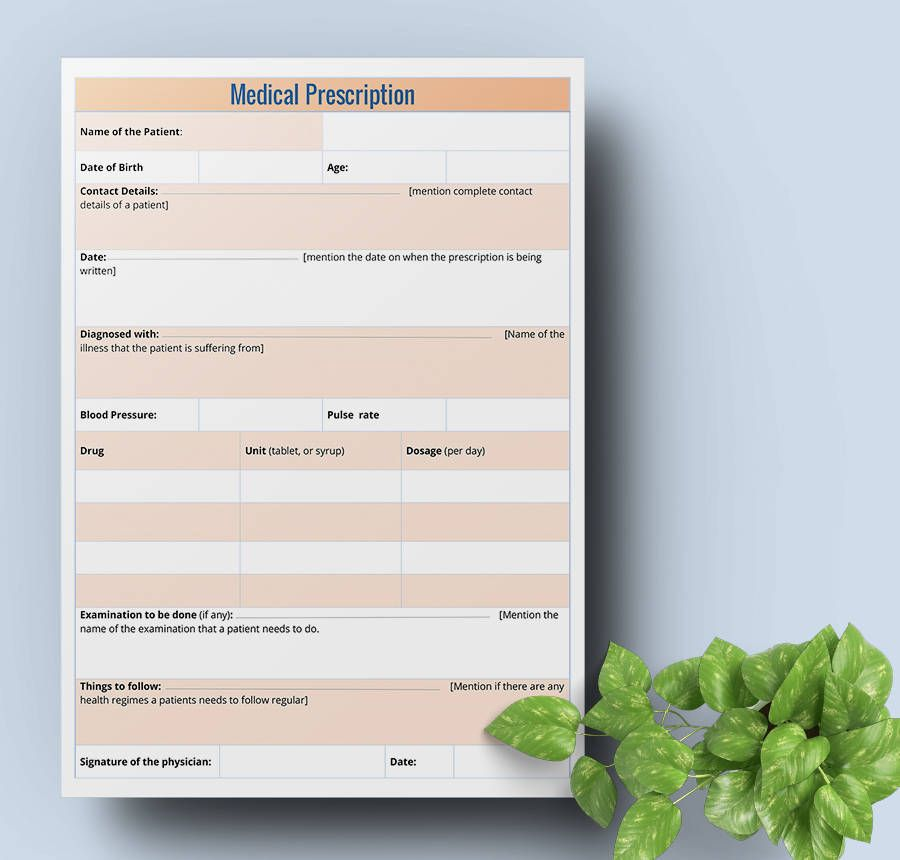 Free Doctors Prescription Templates | Free & Premium Templates ...