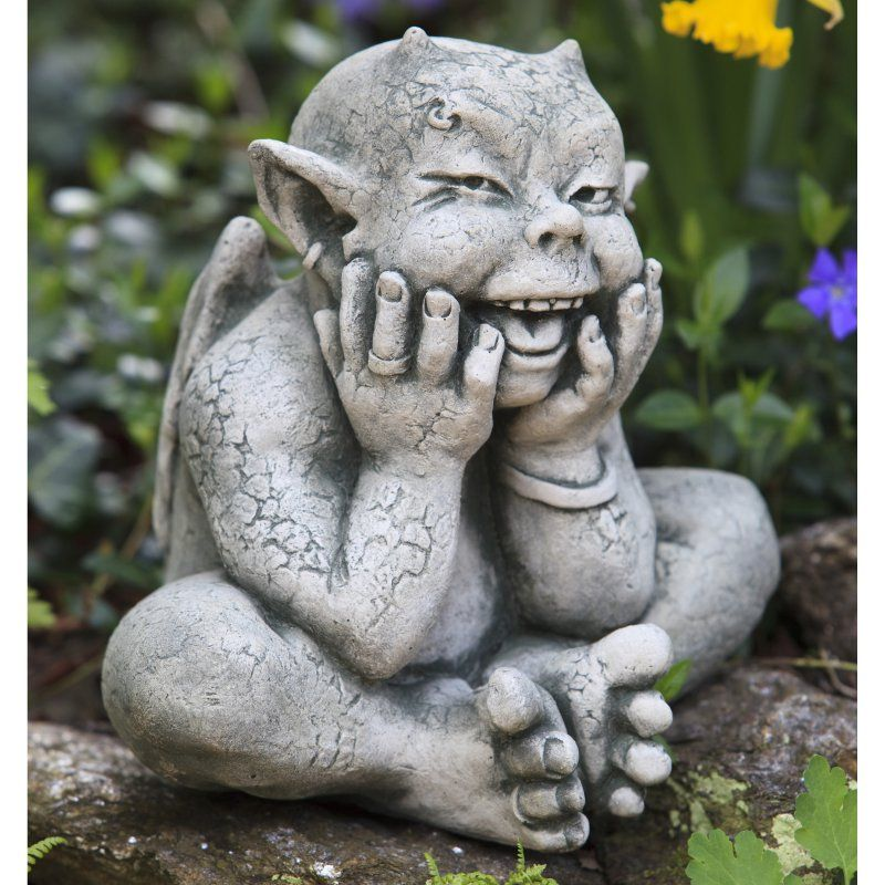 Campania International Robin The Gargoyle Cast Stone Garden Statue    S 348 FR