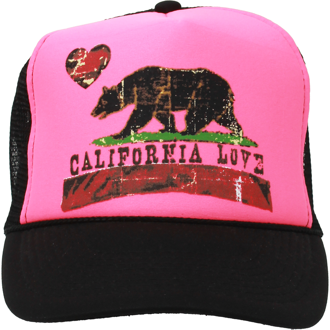 3d6fec8ca59 California Love Republic Snapback Hat Distressed Curve Bill Pink Black -  Pink Crown