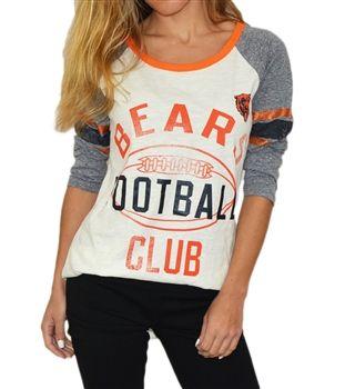 25f81d22 Chicago Bears Womens Vintage Sparkle Raglan by G111   Da Bears ...