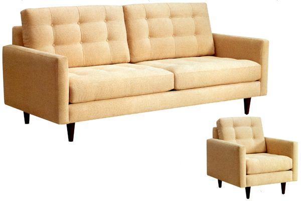 Flores Design Ronaldo Contemporary Sofa, Chair or Sectional ...