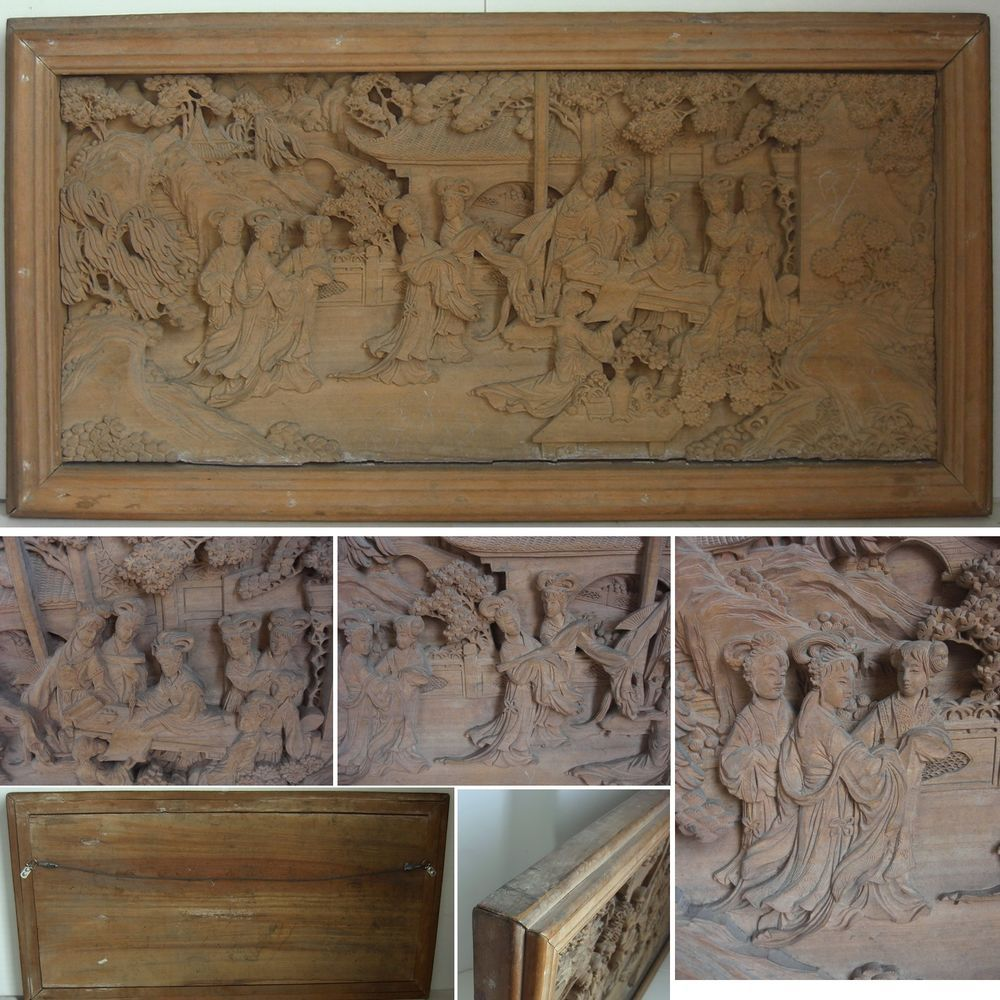 chinese wood carving wall art