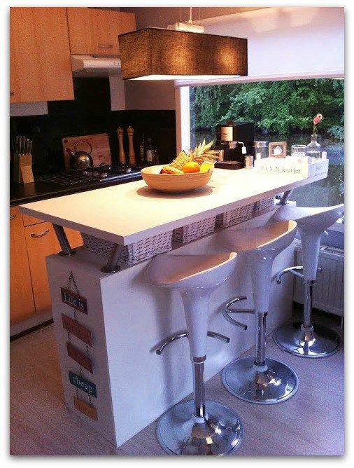 Turn your expedit or kallax into a kitchen island and bar interior hacks pinterest bar kitchens and ikea hack