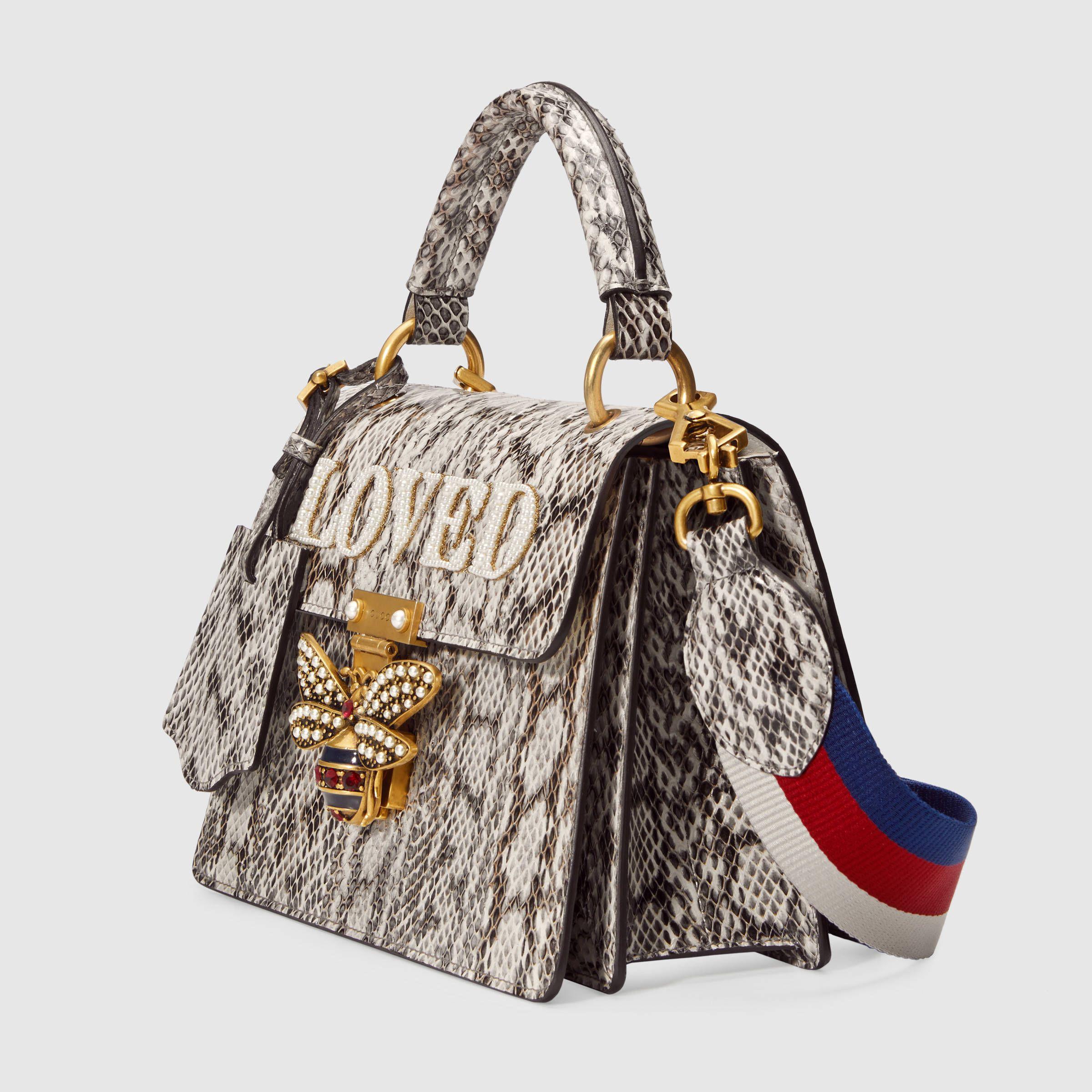 Gucci Sac à main Queen Margaret en peau de serpent Detail 2   MES ... 83ad99981a7