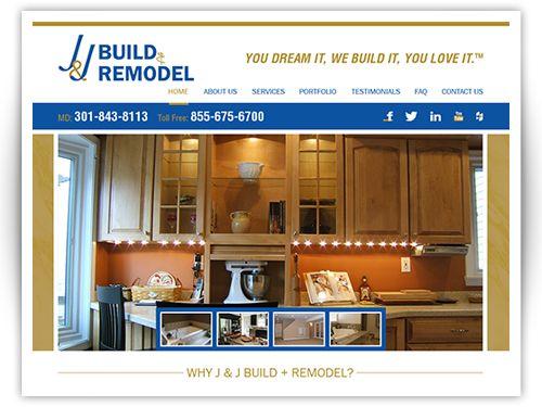 Website J J Build And Remodel Remodel Remodeling Companies Custom Website Design