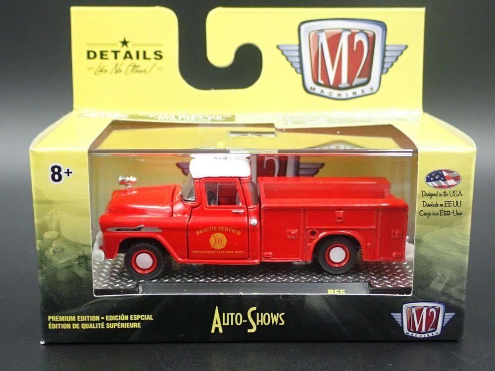 1958 Chevrolet Apache  Brush Truck FIRE Rescue** M2 Machines Auto Shows 1:64 RAR