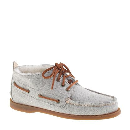 Sperry Top-Sider shearling-lined flannel chukka boots (25% off your order with your order code lovejcrew) / by J.Crew