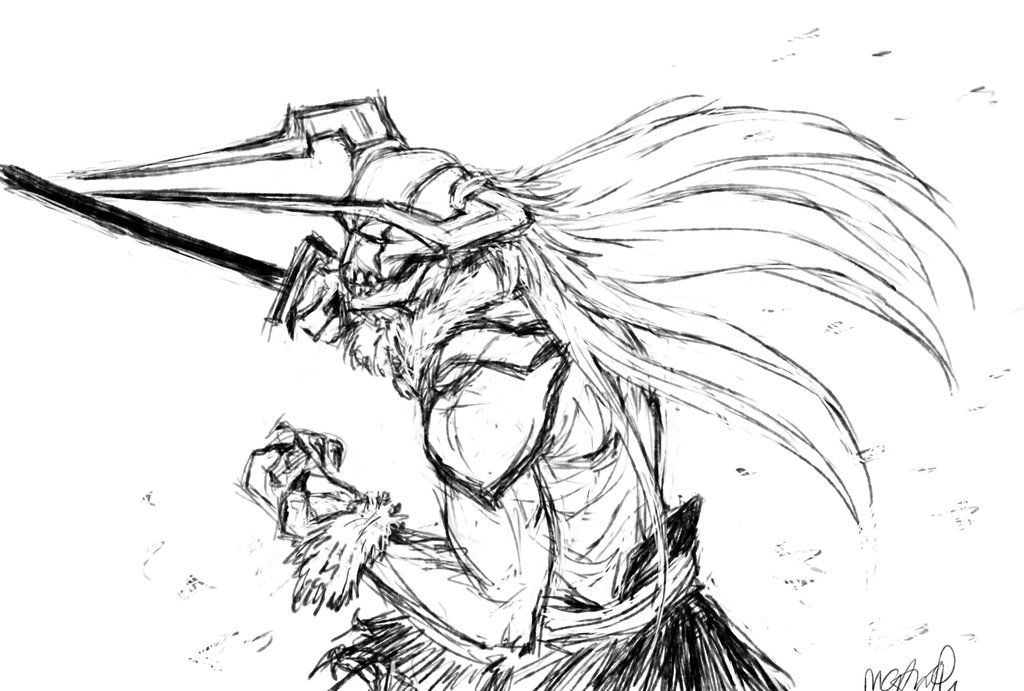 bleach hollow ichigo final form drawing - Google Search | anime ...