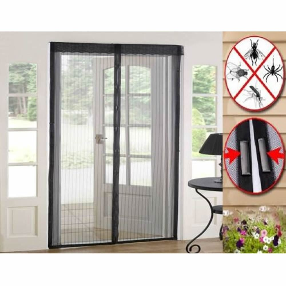 Magnetic Mesh Door Screens Magic Curtain Anti Bug Insect Mosquito