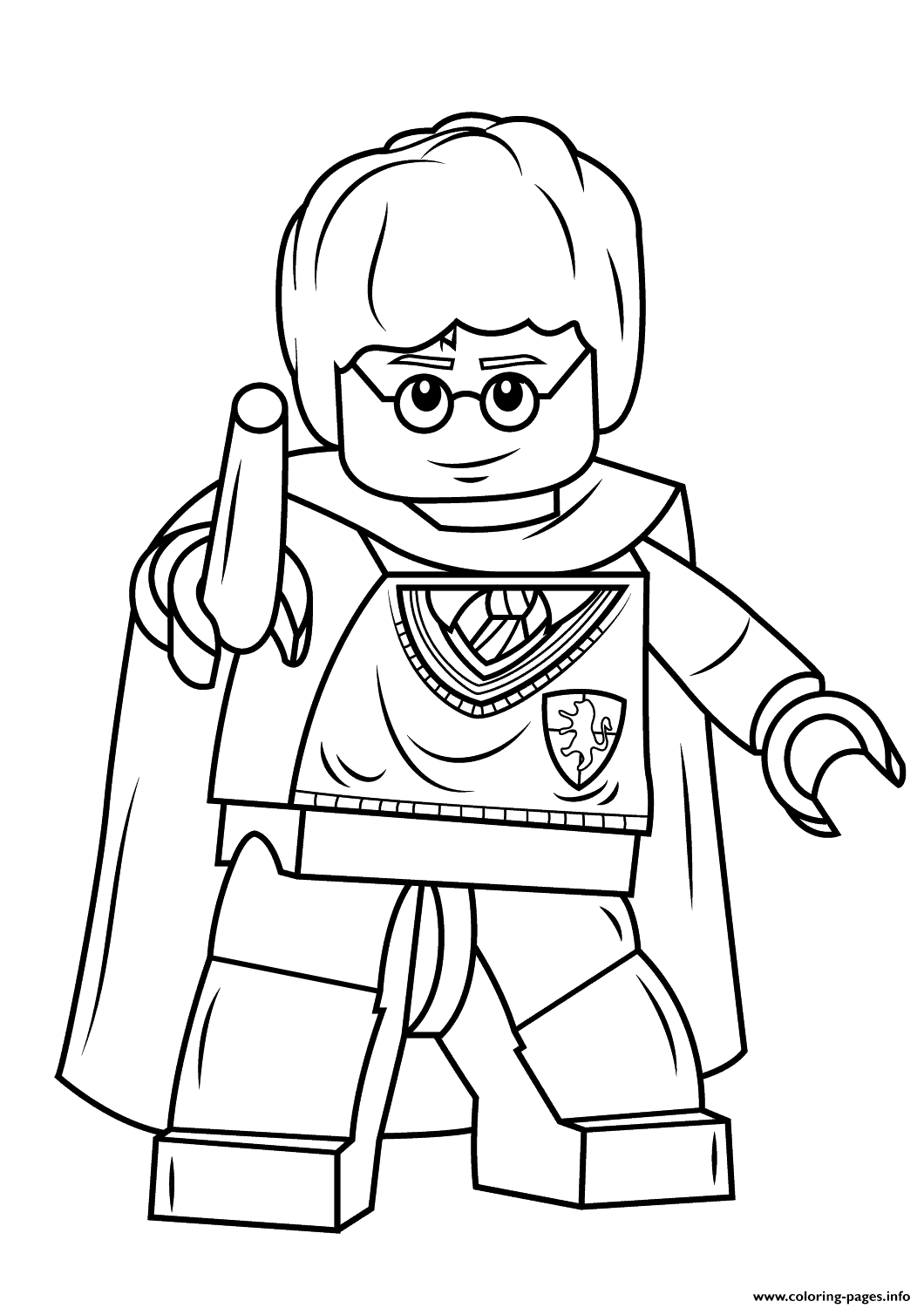 Awesome Print Lego Harry Potter With Wand Coloring Pages