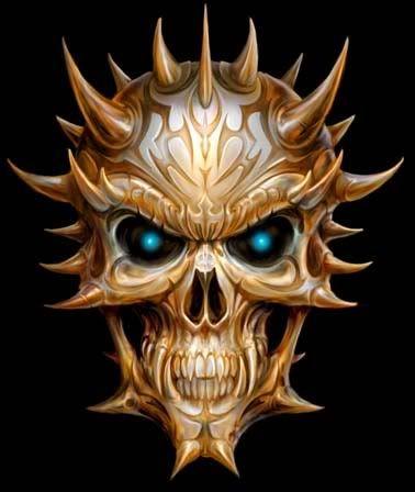 demon skull art pinterest skull skull art and art